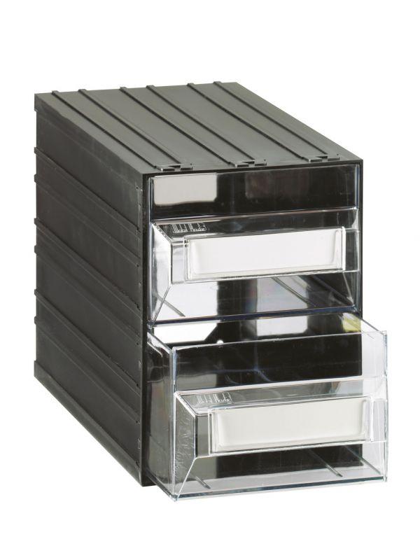 Cassettiere Mobil Plastic.Mobil Plastic Cassettiere Componibili Trasparent 2 Cassetti